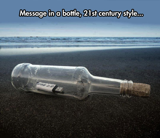 Image may contain: Message in a bottle,21st century style.. - Myspace Photo