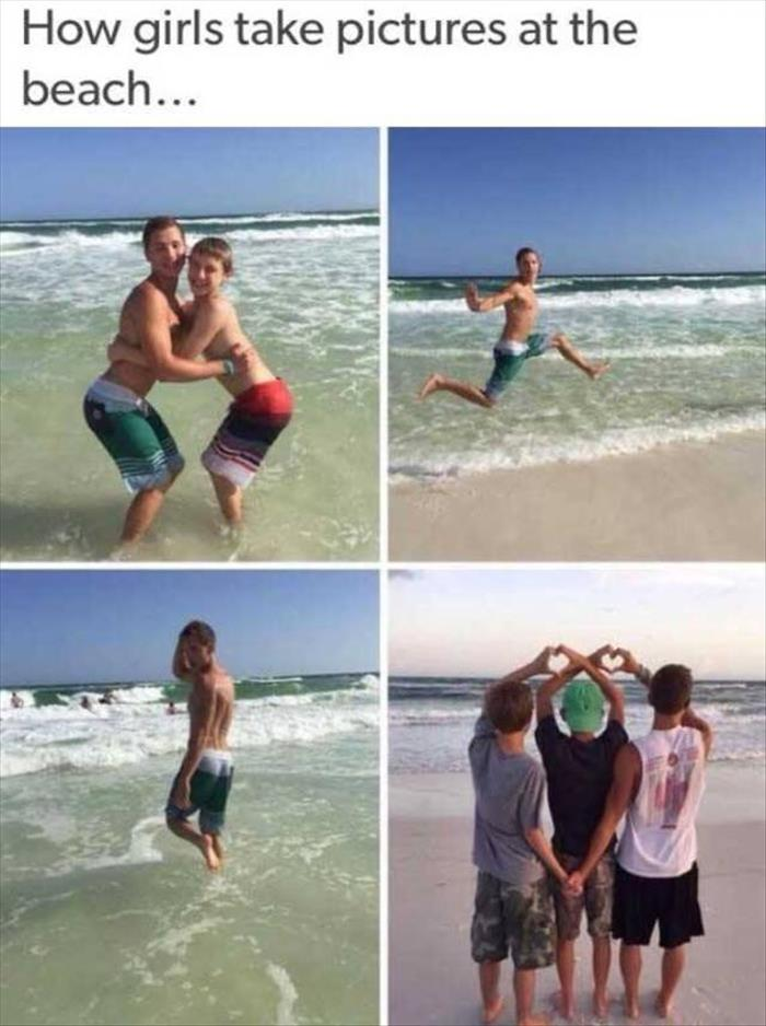 Image may contain: How girls take pictures at the beach.. - Myspace Photo