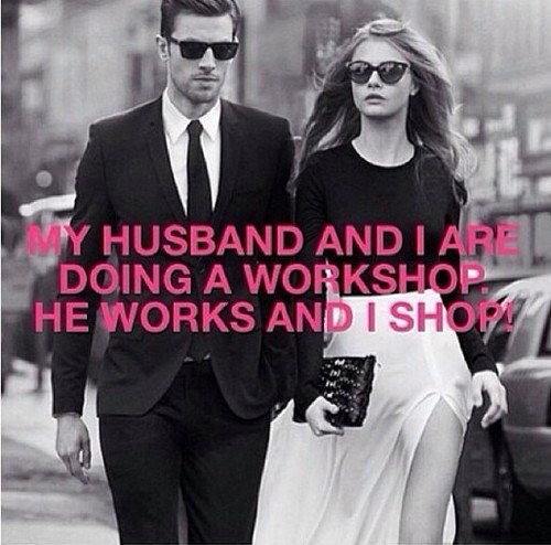 My husband and i are doing a workshop. He works i shop!