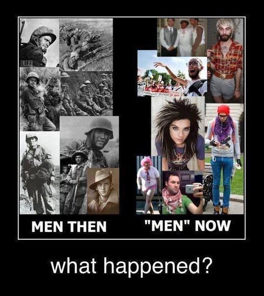 Men then... Men now... What happened?