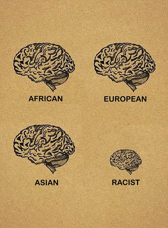 African - European - Asian - Racist
