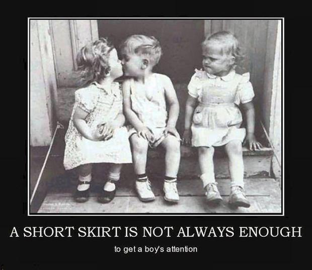 Image may contain: a short skirt is not always enough - Myspace Photo