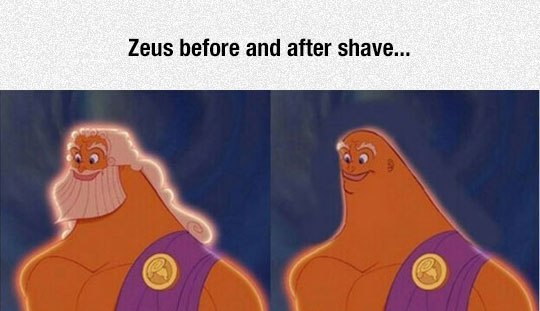 Zeus before and after shave - Myspace Photo