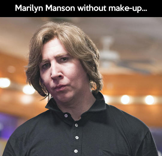 Marilyn Manson without make-up... - Myspace Photo