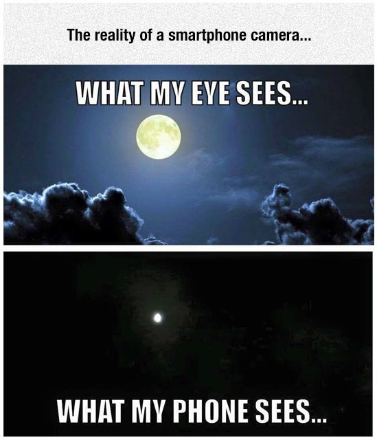 Image may contain: The reality of a smartphone camera... - Myspace Photo