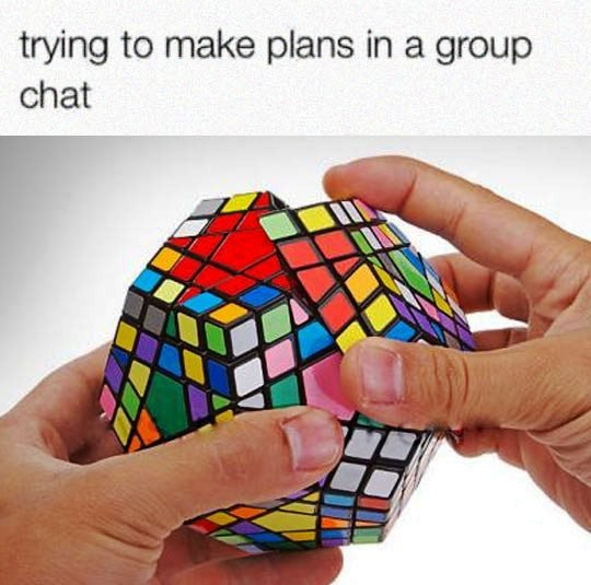 Image may contain: Trying to make plans in group chat - Myspace Photo