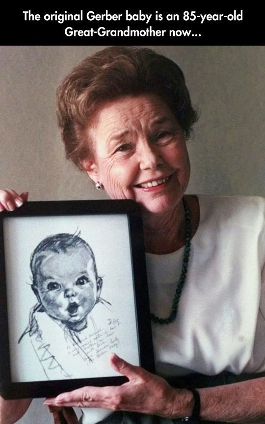 The original Gerber baby is an 85-year-old Great-Grandmother now