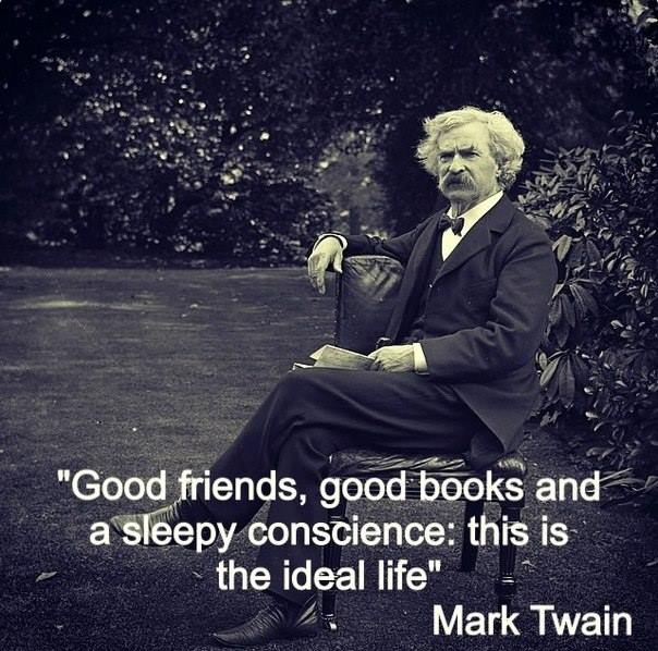 Image may contain: Good friends, good books and a sleepy conscience: this is the ideal life - Myspace Photo