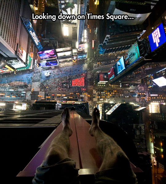Image may contain: Looking down on Times Square - Myspace Photo