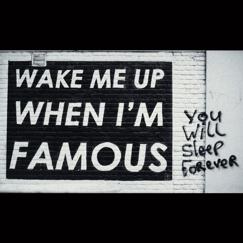 Wake me up when i'm famous - Myspace Photo