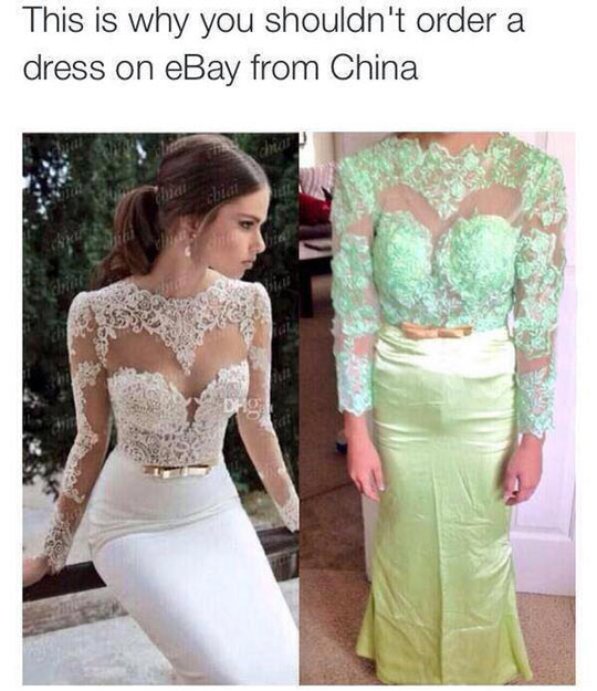 this is why you shouldn't order a dress on eBay from China