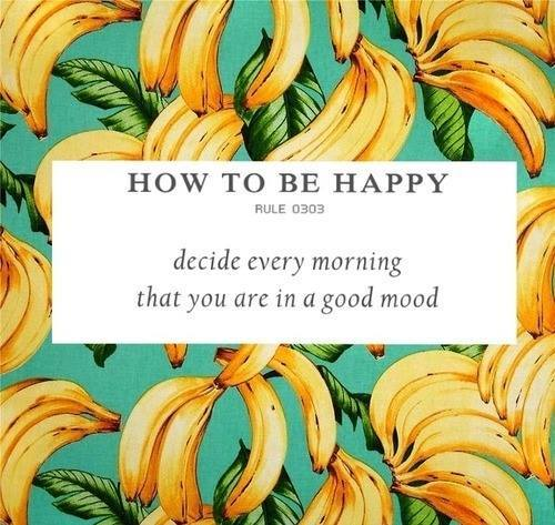 How to be happy: Rule 0303 - Decide every morning that you are in a good mood