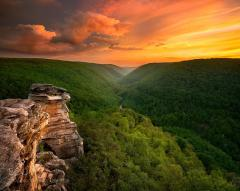 Sunset at Blackwater Falls State Park (Lindy Point)
