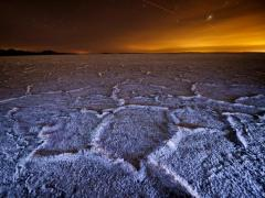 Bonneville Salt Flats at Night, Utah