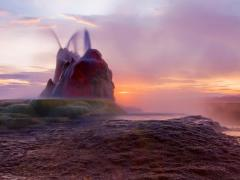 Fly Geyser Image, Nevada