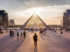 Aglow in the City of Light (Louvre Pyramid Image)