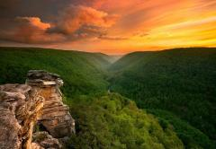 Sunset at Blackwater Falls State Park, West Virginia