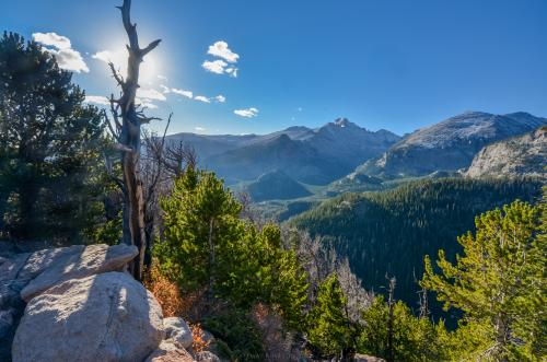 The trail up Flat Top Mountain in Rocky Mountain National Park