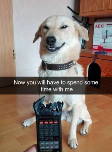 Now you will have to spend some time with me
