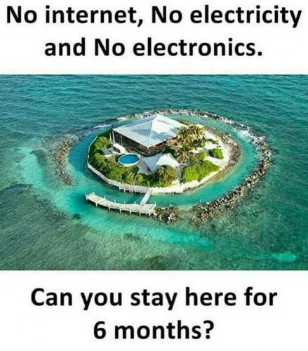 No internet, No electricity and no electronics. Can you stay here for 6 months ?