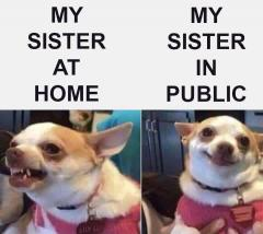 My Sister At Home - My Sister In Public