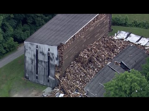 Thousands Of Bourbon Barrels Smash To Ground In Distillery Collapse