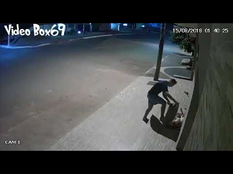 Cctv caught a Guy Covers Stray Dog With Blanket