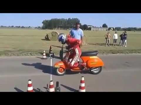Most fastest crazy vespa race