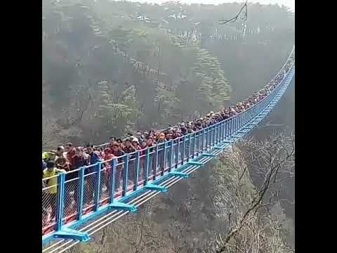 Fantastic bridge at top highest mountain