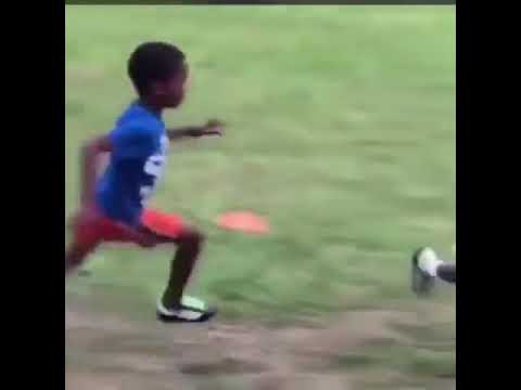 A Kids with her running skills, no one can catch her