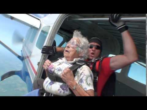 Skydiving at 90 years old!!