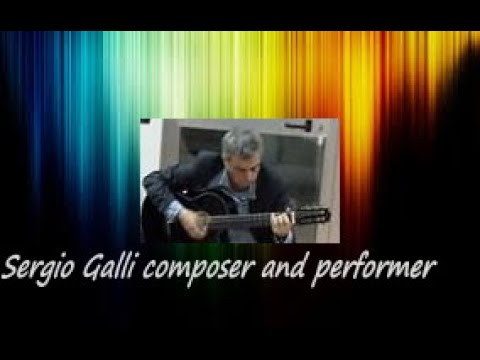 Sergio Galli composer and performer guitar solo Nuances