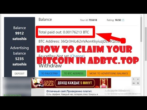 HOW TO CLAIM YOUR FREE BITCOIN IN ADBTC TOP #MAKEMONEYONLINE PAYING AND LEGIT