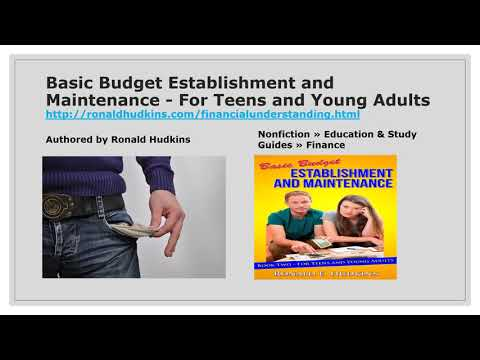 Basic Budget Establishment and Maintenance - for Teens and Young Adults