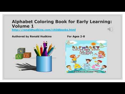 Alphabet Coloring Book for Early Learning: Volume 1